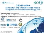 geoss aip 6 architecture implementation pilot phase 6 energy scenario global renewable energy atlas