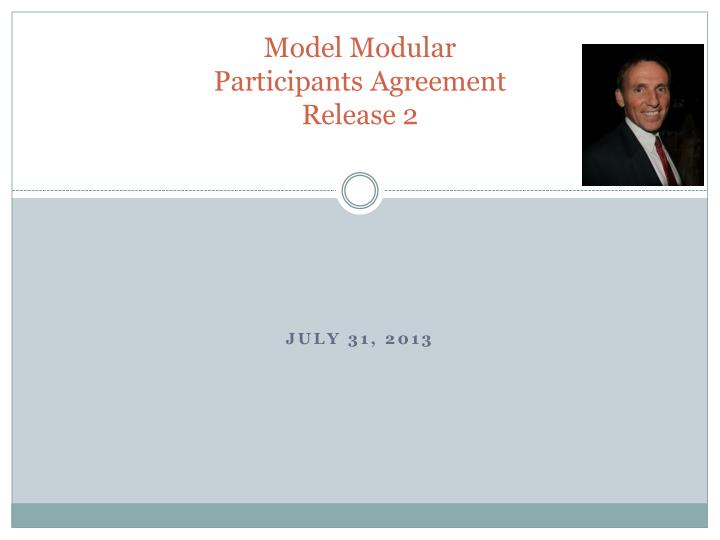 model modular participants agreement release 2 n.