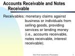 accounts receivable and notes receivable