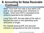 b accounting for notes receivable continued