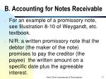 b accounting for notes receivable