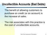 uncollectible accounts bad debts