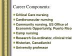 career components