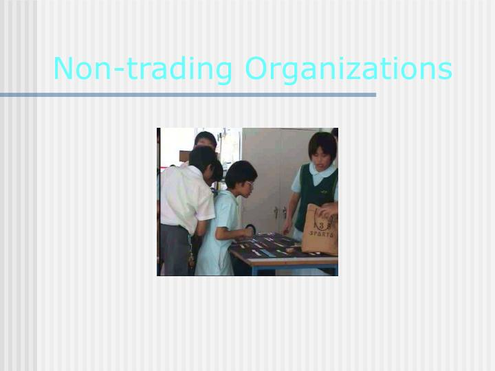 non trading organizations n.