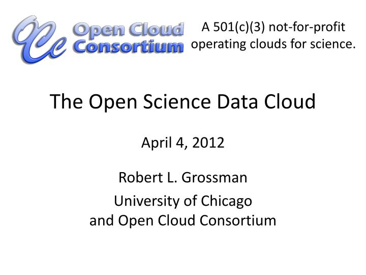 the open science data cloud n.