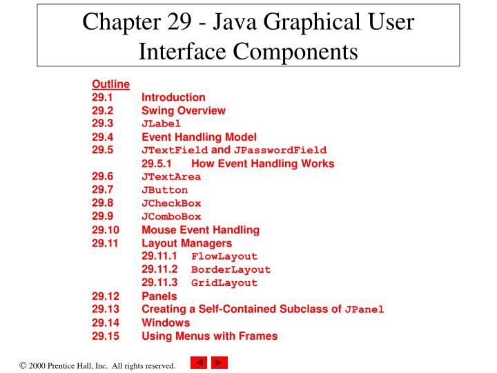 chapter 29 java graphical user interface components n.