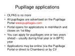 pupillage applications