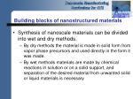 building blocks of nanostructured materials