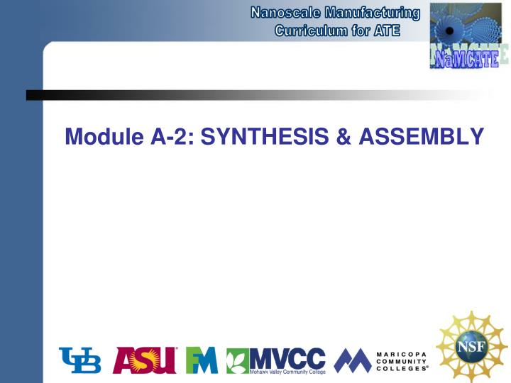 module a 2 synthesis assembly n.