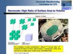 nanoscale high ratio of surface area to volume