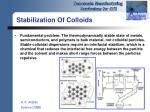 stabilization of colloids