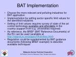 bat implementation