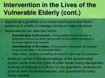 intervention in the lives of the vulnerable elderly cont