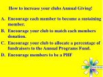 how to increase your clubs annual giving