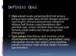 definisi opsi