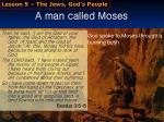 a man called moses
