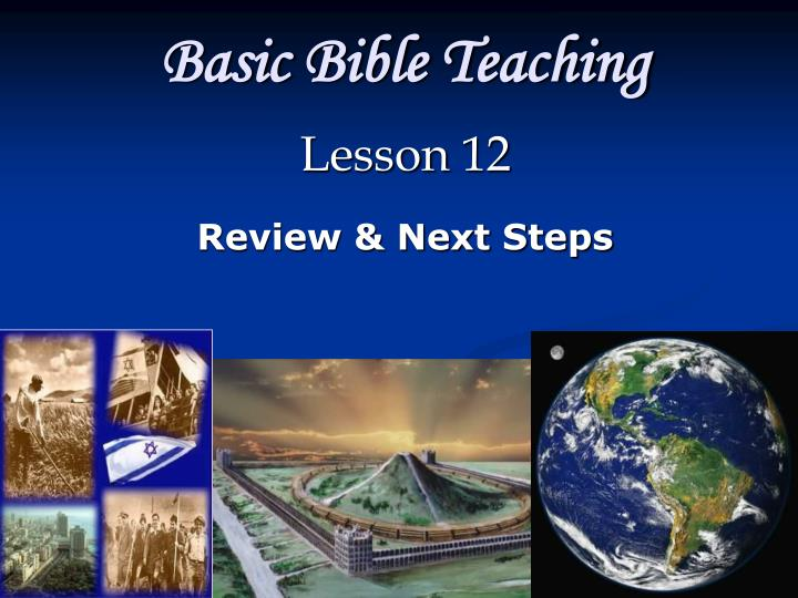 basic bible teaching n.