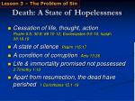 death a state of hopelessness