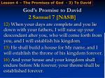god s promise to david 2 samuel 7 nasb