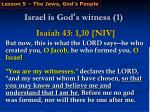 israel is god s witness 1
