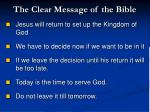 the clear message of the bible