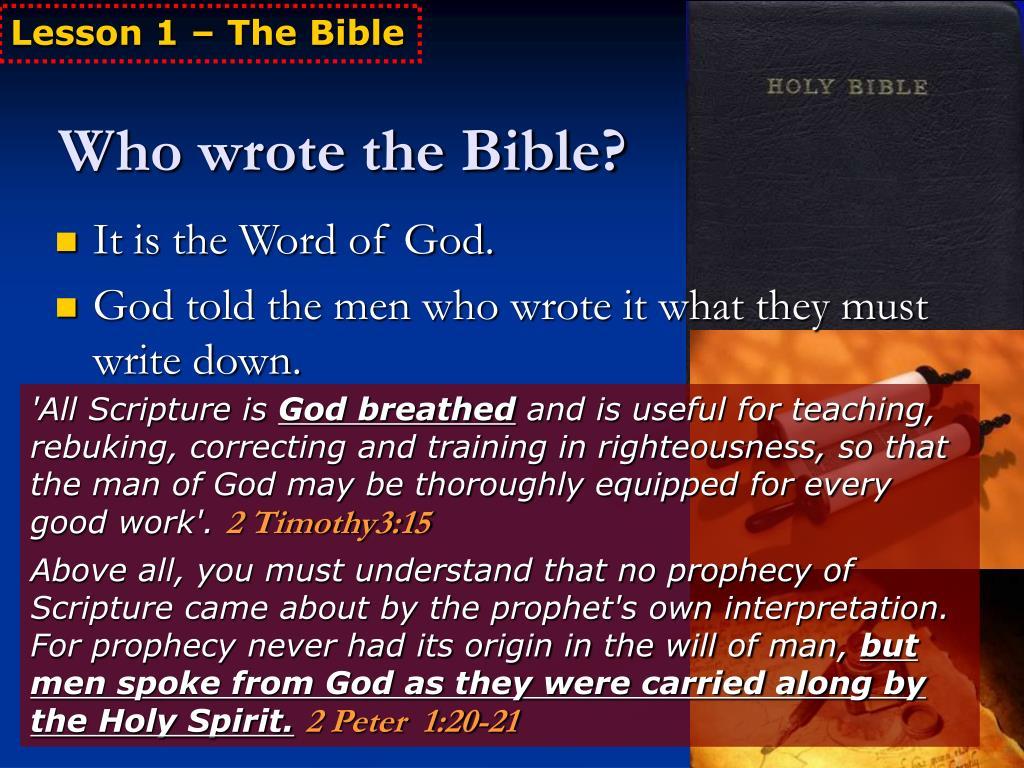 PPT - Basic Bible Teaching PowerPoint Presentation - ID:5615881