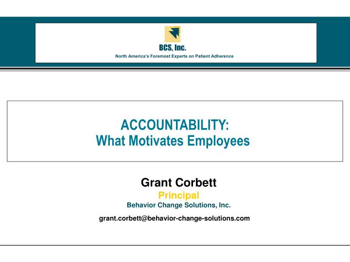accountability what motivates employees n.