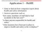 application 1 hasie