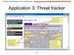 application 3 threat tracker