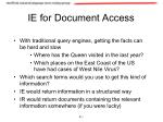 ie for document access