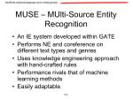 muse multi source entity recognition