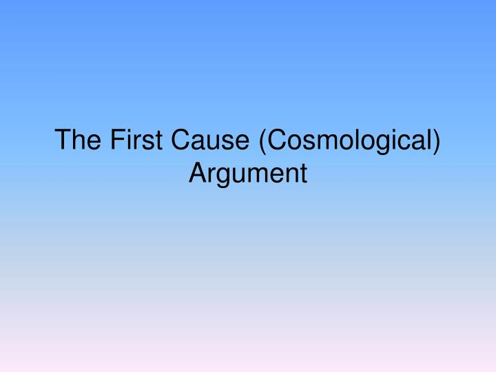 the first cause cosmological argument n.