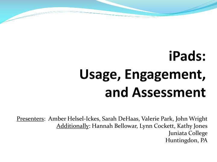 ipads usage engagement and assessment n.