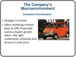 the company s macroenvironment1