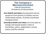 the company s macroenvironment9