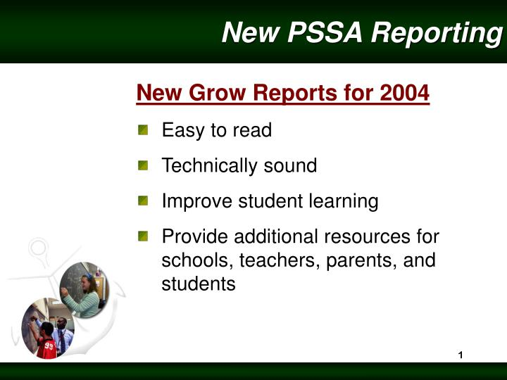 new pssa reporting n.