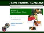 parent website pagrow com