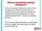 what are community learning champions