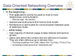 data oriented networking overview