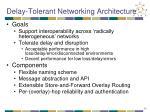 delay tolerant networking architecture
