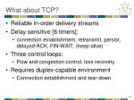 what about tcp