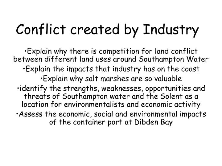 conflict created by industry n.