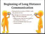 beginning of long distance communication