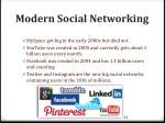 modern social networking