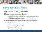 implementation plans