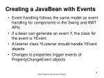 creating a javabean with events
