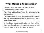 what makes a class a bean