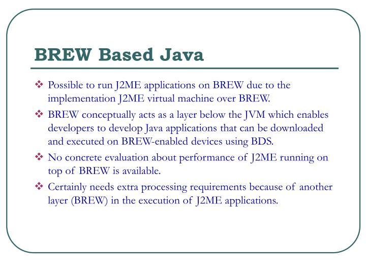 BREW Based Java
