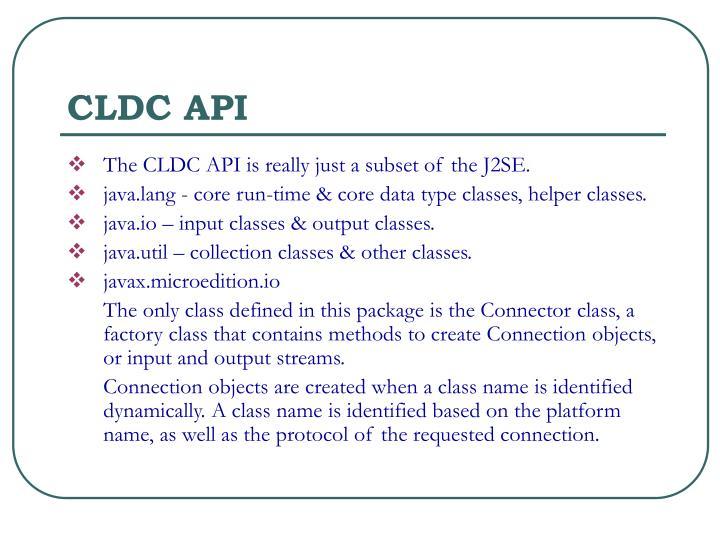 CLDC API