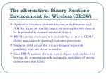 the alternative binary runtime environment for wireless brew